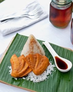 Glutinous Rice with Fried Banana