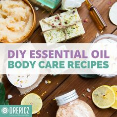 DIY Essential Oil Body Care Recipes
