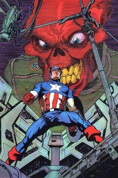 Captain America & Red Skull by Juanjo Guarnido
