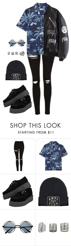 """""""razorblade - the strokes"""" by grungeclothes ❤ liked on Polyvore featuring Topshop, Percival and Retrò"""