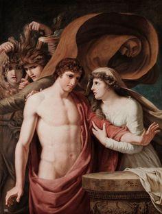 Orestes and Iphigenia. 1788. Johann Heinrich Wilhelm Tischbein.     German. 1751-1829.