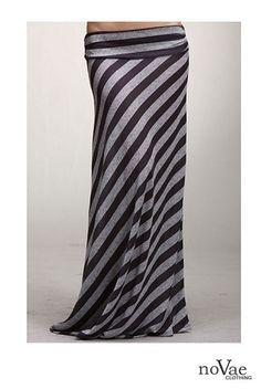Diagonal Stripe Maxi Skirt Coming Soon!