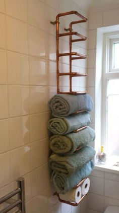 Diy towel storage inspirational diy bathroom storage ideas for small bathrooms n. , - Diy towel storage inspirational diy bathroom storage ideas for small bathrooms n. Hang Towels In Bathroom, Bathroom Towel Storage, Small Bathroom Organization, Hanging Towels, Diy Bathroom Decor, Diy Hanging, Bathroom Styling, Bathroom Ideas, Basement Bathroom