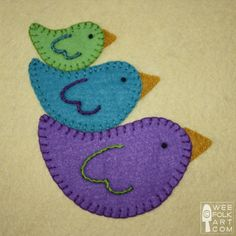 Finally found the perfect bird pattern for making my felt pillow! Great site with lots of adorable free patterns.