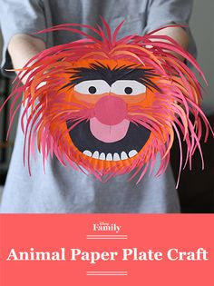 How cool is this Animal paper plate craft? Whether this feisty guy is your favorite Muppet or not, you can't help but love this colorful DIY.