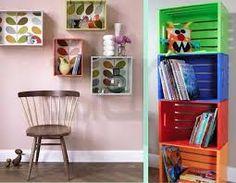Risultati immagini per cassette frutta per parete soggiorno