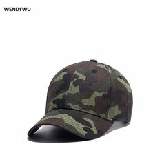 8218a50c9f0 WENDYWU Camo baseball cap Casual Beach Hat for men and women Outdoor sports  men peaked cap