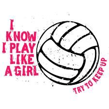 Play Volleyball Like a Girl Ornament (Round).Girl Power at its best in this popular design featuring gritty fonts and a distressed volleyball. Black or Pink artwork. Available at Try2KeepUp.com. #PlayLikeAGirl #PlaySportsLikeAGirl #TryToKeepUp