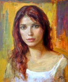 (UK) by Goyo Dominguez ). Oil on canvas. Australian Painters, Beauty In Art, Guache, Mystique, Art For Art Sake, Cool Paintings, Woman Painting, Portrait Art, Face Art