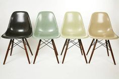 eames style chairs, great colors