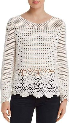 Aqua Sheer Crochet Top – Exclusive The Effective Pictures We Offer You About crochet stitches A quality picture can tell you many things. Black Crochet Dress, Crochet Jacket, Crochet Cardigan, Crochet Shawl, Crochet Stitches, Crochet Baby, Crochet Top, Knitting Patterns, Crochet Patterns