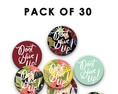 Pack of 30 - Pin Badges - Don't Give Up Convention 38 mm/1.5 inch, Jehovah's Witnesses, JW Gift, Special Convention Gift, jw pins, jw.org