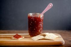 Tomato jam bottles up the all the delicious flavor of ripe sumer tomatoes so you can enjoy it year-round.