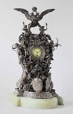 The Alexander III 25th Anniversary Wedding Clock. (A gift from the Romanov family to Tsar Alexander III and Empress Maria). 1891