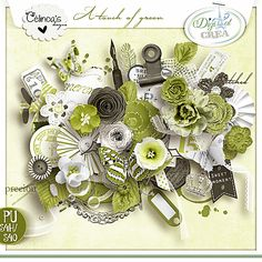kit A Touch of Green by Celinoa's Designs http://digital-crea.fr/shop/index.php?main_page=product_info&cPath=155_332&products_id=20291#.VUpOufntlBc