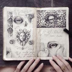 Ink sketches, moleskine artist journal, artist sketchbook, sketchbook d Sketchbook Drawings, Art Drawings, Sketches, Sketchbook Ideas, Moleskine, Zentangle, Art Simple, Artist Journal, Art Graphique
