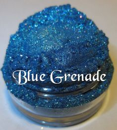Blue Grenade Blue Sparkle Glitter Natural by lumikkicosmetics, $5.95