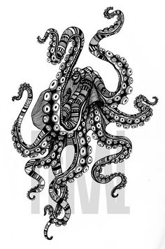 Feral Octopus.  Created for our first ever batch of sweatshirts in 2013.