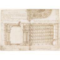 Teatro Filarmonico, Accademia Filarmonica, Verona, Italy: Section and Ceiling, Draftsman: Jean-Joseph Chamant and Architect: Francesco Galli Bibiena, 1715–1720