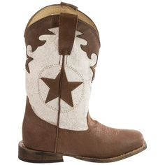 Roper Crackled Leather Cowboy Boots - Square Toe (For Little Kids))
