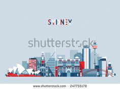 stock-vector-sydney-australia-city-skyline-vector-background-flat-trendy-illustration-247755178.jpg (450×336)