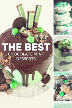 The Best Chocolate Mint Desserts -  Puppy Chow Recipe - Skillet Brownie - Brownie Mint Trifle - St Patrick's Day Cake - Shamrock Mint Brownie Bites - Oreo Cupcakes - Marbled Mint Cheesecake Brownie Bars - Mint Chip Brownies - Mint Oreo Cookie Bark - Dipped Oreo Cookies - The Mommy Mix