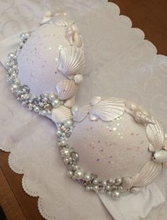 Iridescent Mermaid Bra by RaveRack on Etsy Fairy Mermaid, Mermaid Bra, Mermaid Tails, Mermaid Makeup, Dance Costumes, Halloween Costumes, Decorated Bras, Rhinestone Bra, Bedazzled Bra