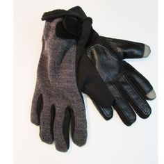 Men's Knit Fusion Wool Blend Lined Gloves Touch Screen Compatible,Charcoal Grey #Apt9 #WinterGloves