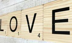Scrabble letras de madera. Madera maciza. Tienda online.