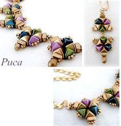 Elément Chrys pour réaliser des bijoux avec des perles super-Khéops®  par Puca® et rocaille Miyuki