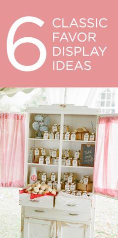 6 Classic Wedding Favor Display Ideas {via Project Wedding}