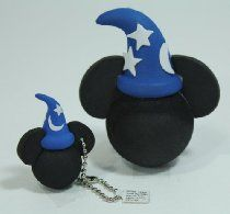 Disney Mickey Sorcerers Hat Antenna Topper & Keychain Set - Disney Parks Exclusive & Limited Availability