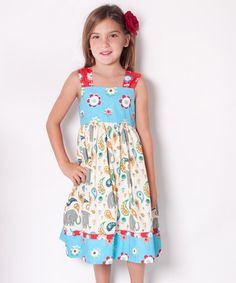 Take a look at this White & Teal Elle Reversible Knot Dress - Infant, Toddler & Girls by Jelly the Pug on #zulily today!