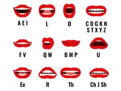 Cartoon Character Mouth And Lips Sync For Sound Pronunciation. Vector Set Animation Frames Stock Vector - Illustration of cartoon, pronunciation: 78678174 English Tips, English Study, English Lessons, Learn English, Phonetics English, English Vocabulary, English Alphabet Pronunciation, Ipa Phonetics, English Grammar