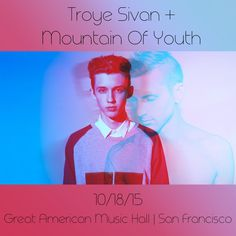 Tonight's the BIG night!! See you at Great American w/ @troyesivan and yours truly!! <3  mountainofyouth.net
