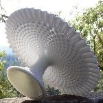 Fenton Hobnail Cake Stand