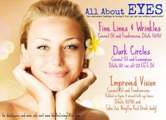 Natural applications for fine lines & wrinkles, dark circles using essential oils. Want more info?