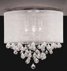 Drum Shade Crystal Ceiling Chandelier Pendant Light