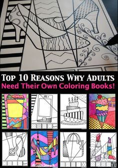 FREE Adult Pop Art Coloring Pages. Top 10 reasons why adults need ...