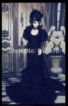 Barato Limitada Black Widow vestido gótico para BJD BJD SD10 / 13 / 16, Sdgr, Ip eid, Ddl, Quadrados roupas de boneca BJD personalizado, Compro Qualidade Acessórios para boneca diretamente de fornecedores da China:                      &nb