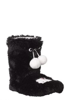 BLACK HELLO KITTY SLIPPERS