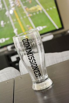 Fantasy Football Commissioner Pilsner Glass by AnchorAvenueDesigns, $10.00