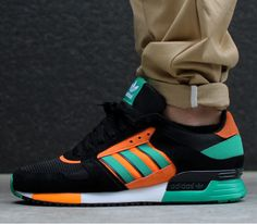 adidas Originals ZX 630-Black-Carbon-Fresh Green