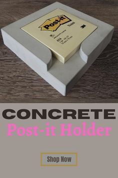 Brutal concrete, minimalistt design by two architects. We #sellon our #Etsy Store. Visit for more... Concrete Posts, Concrete Planters, Post It Holder, Cyber, Etsy Store, Architects, Mall, Etsy Seller, Concept