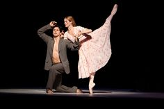 Guillaume Côté as Nijinsky and Heather Ogden as Romola, his wife. Photo by Bruce Zinger