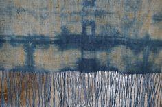 Foulards de lino teñido a mano