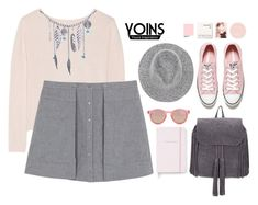 """""""Yoins.com #0007"""" by juhh ❤ liked on Polyvore featuring Banjo & Matilda, T By Alexander Wang, Converse, Le Specs, Kate Spade, Korres, vintage and yoins"""