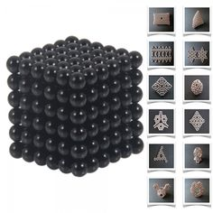 216pcs 5mm DIY Buckyballs Neocube Magic Beads Magnetic Toy Dark Black.  Check this out at the Tmart link on MomTheShopper.