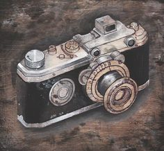Vintage Camera Fine Art Print 8x8 by JoyGoldsteinStudio on Etsy,