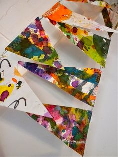 PAINTED PENNANT GARLAND. $15.00, via Etsy.